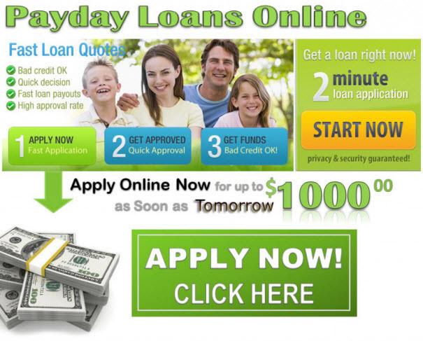 salaryday personal loans rapid bucks